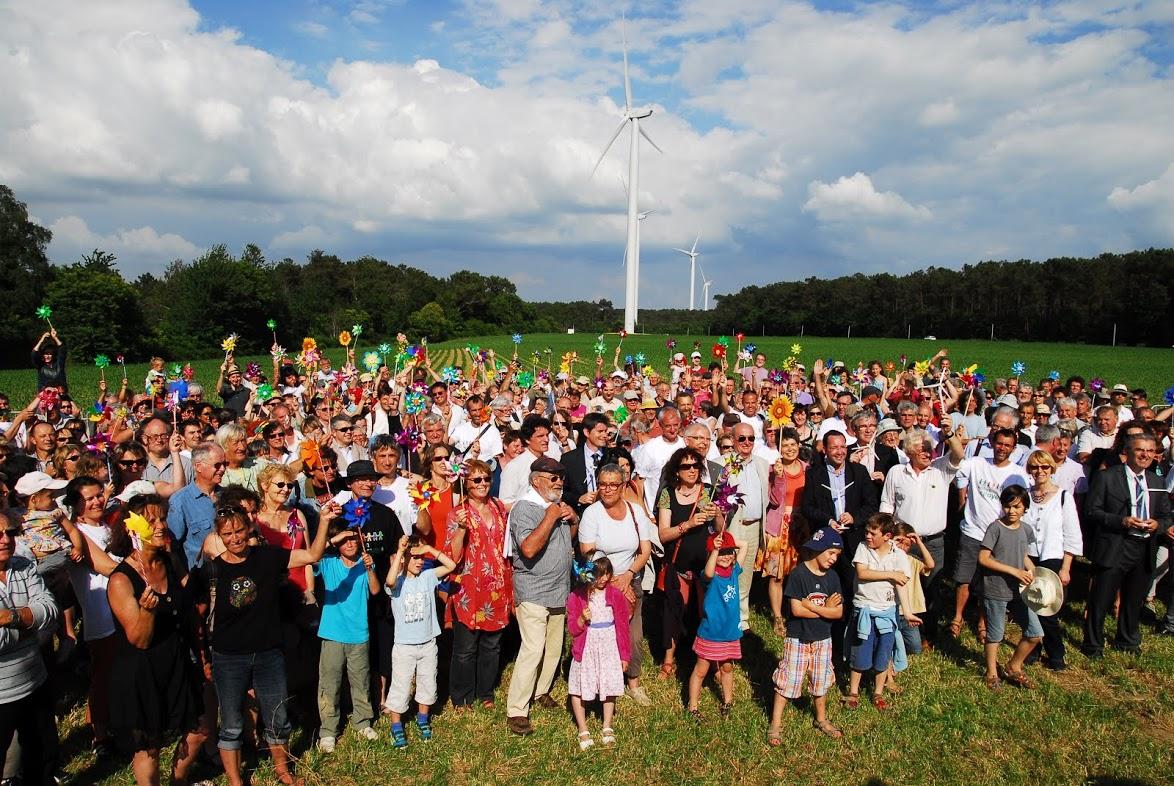 Inauguration du parc éolien de Bégawatts