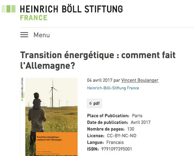 Transition énergétique : Comment fait l'Allemagne ?