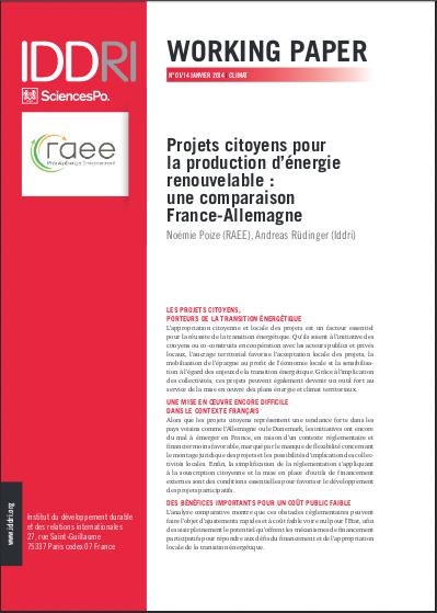 Projets citoyens pour la production d'énergie renouvelable : une comparaison France-Allemagne