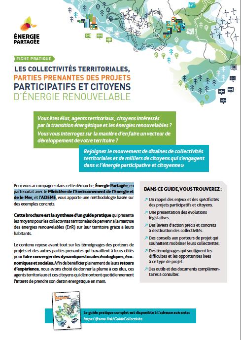 [Synthèse] Les collectivités territoriales, parties prenantes des projets participatifs et citoyens d'énergie renouvelable