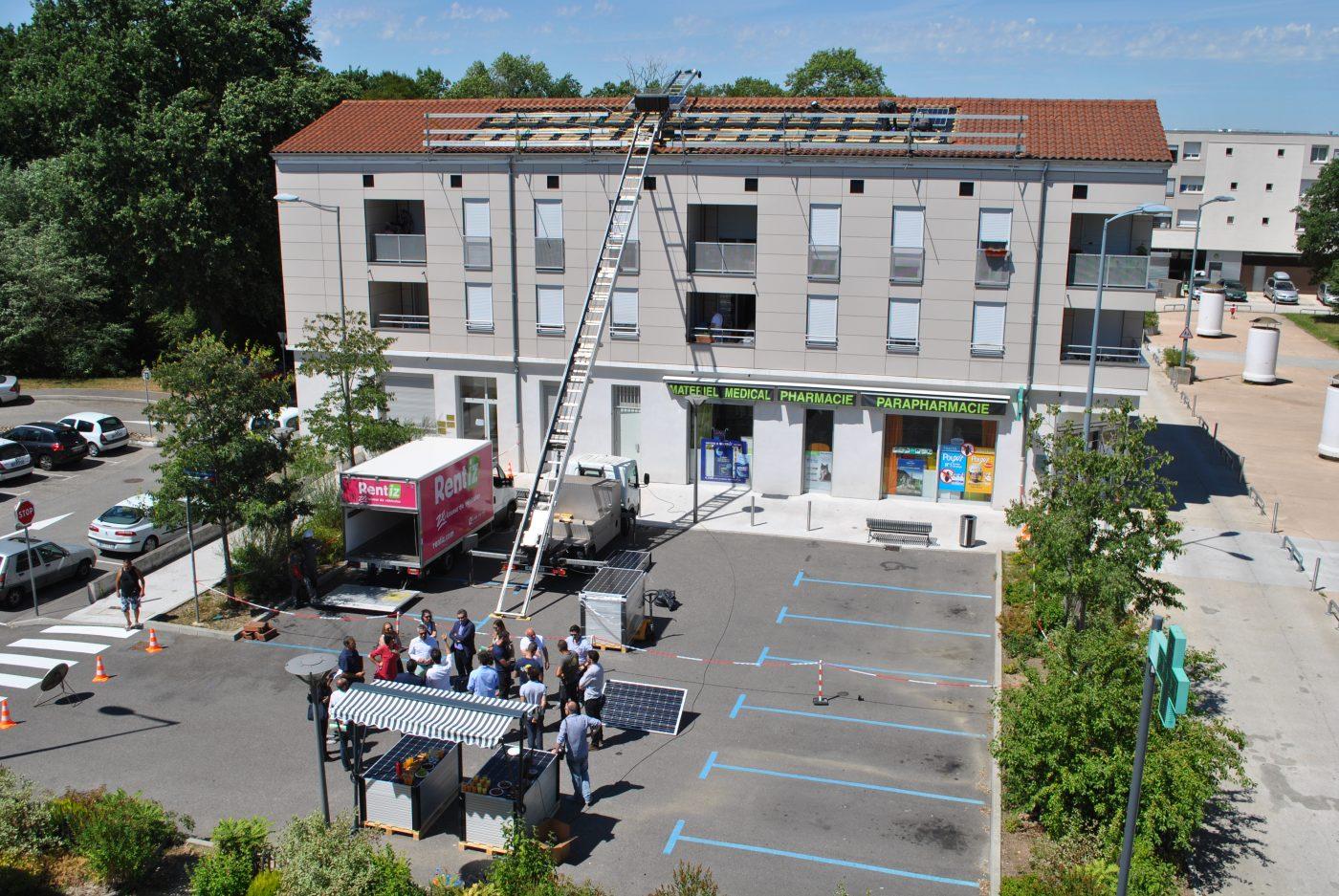 Advivo Solaire - Installation de panneaux solaires sur le toit de la résidence Malissol 1 à Vienne