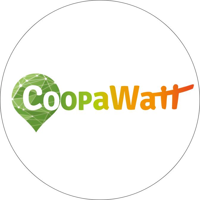 Logo de CoopaWatt, association d'accompagnement de projets d'énergie citoyenne