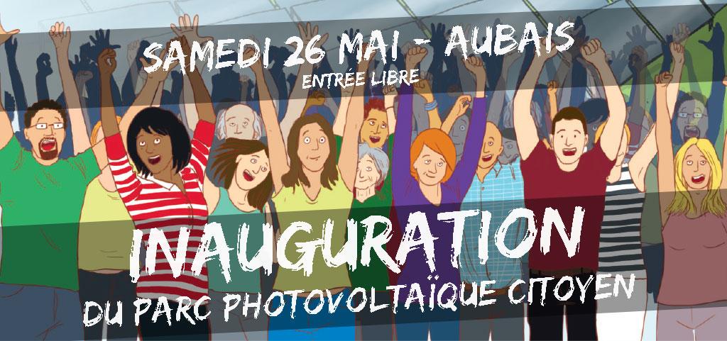 Samedi 26 mai à Aubais, inauguration du parc photovoltaïque citoyen des Survoltés
