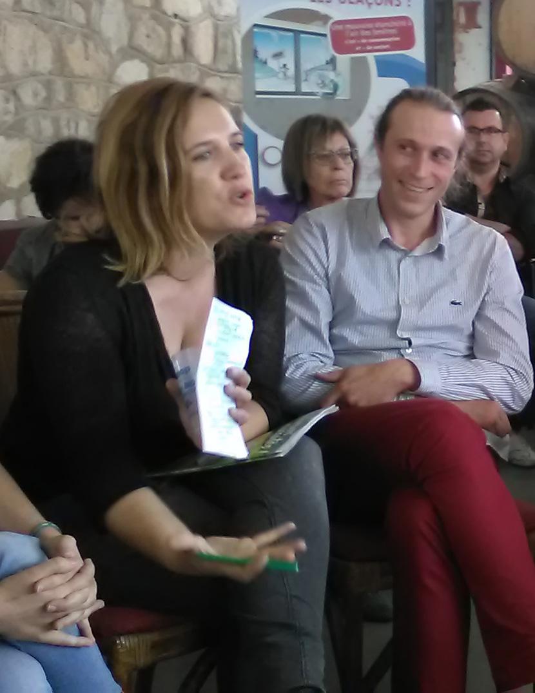 Céline Rousseau des Survoltés d'Aubais et Simon Cossus d'Enercoop LR