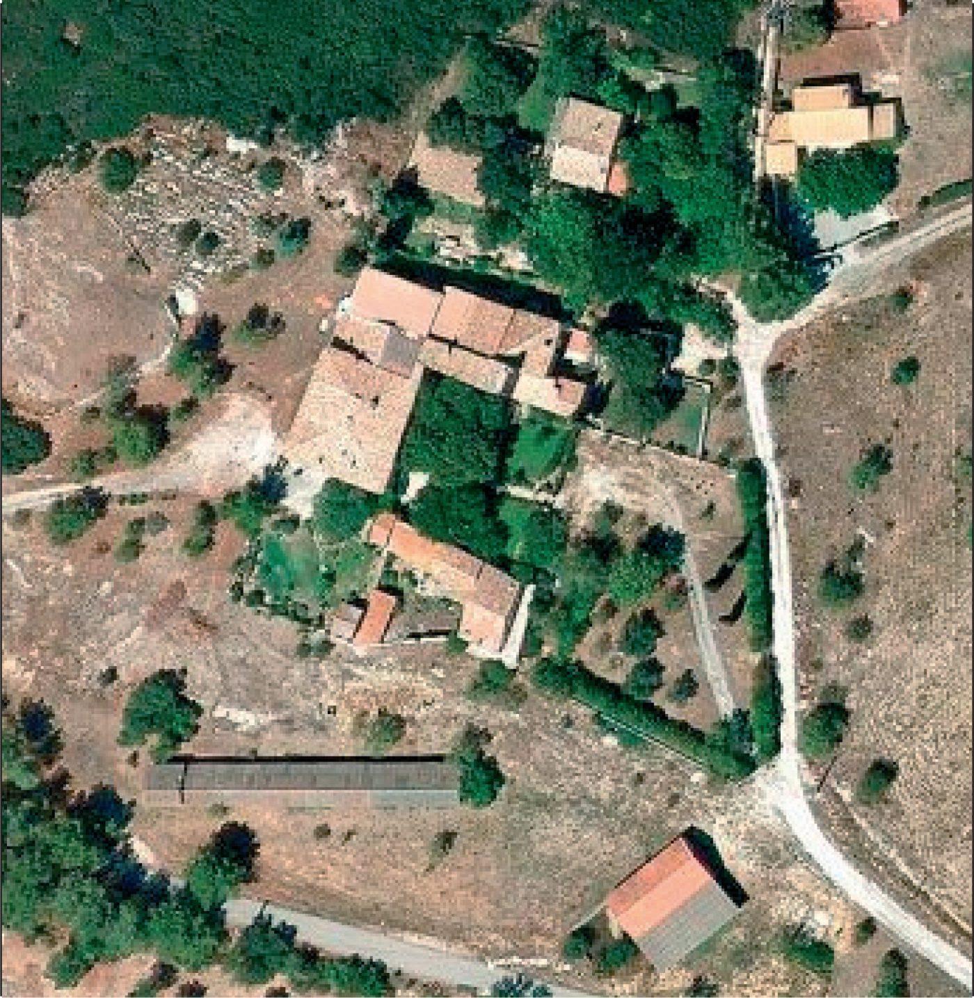 Photo aérienne du site de la Bastide de Château-Blanc