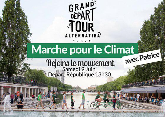 Marche pour le climat, samedi 9 juin, 13h30, à Paris, place de la République