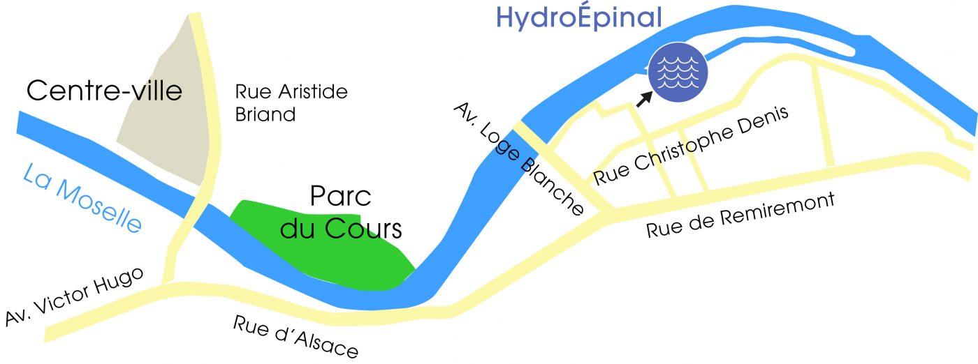 Plan d'accès à la centrale HydroÉpinal