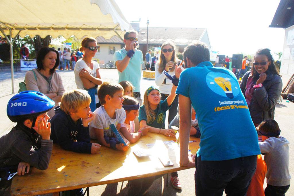 Notre partenaire Enercoop enseigne aussi aux enfants de Lucinges