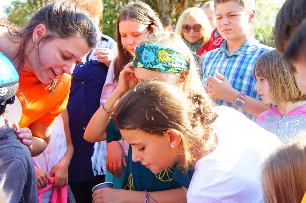 Une foule d'enfant à Lucinges