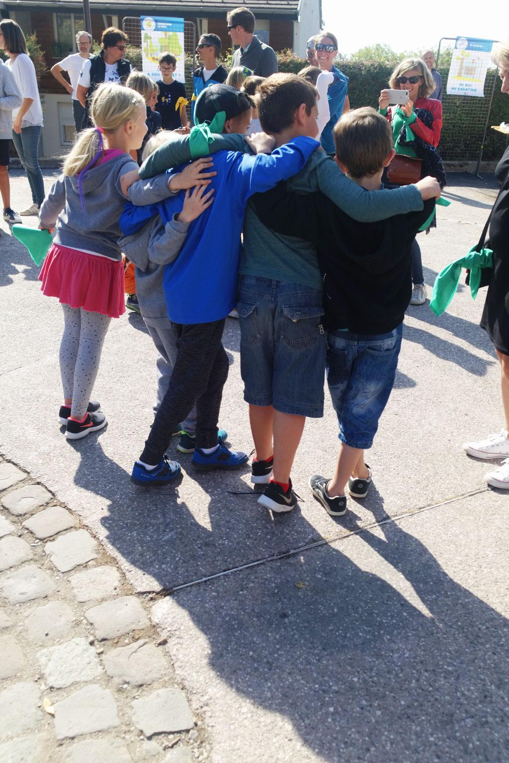 L'équipe verte à Lucinges