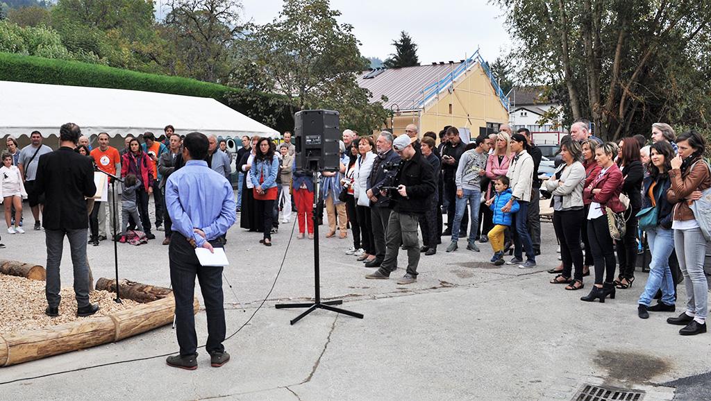 Quelque 80 personnes étaient venues pour l'inauguration de la chaufferie citoyenne ForestEner à Lucinges