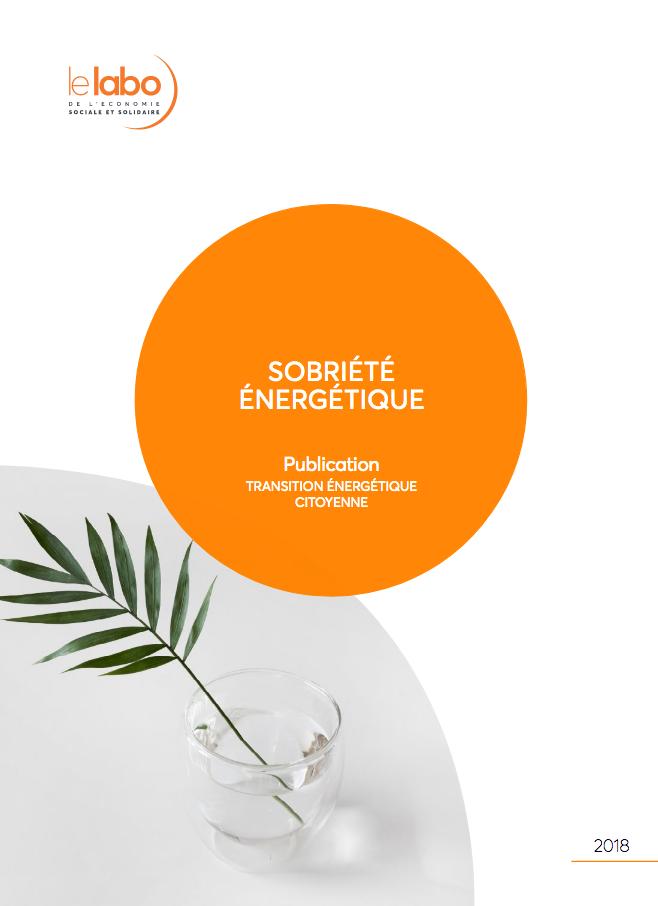 Le Labo de l'ESS - publication sur la sobriété énergétique - 2018
