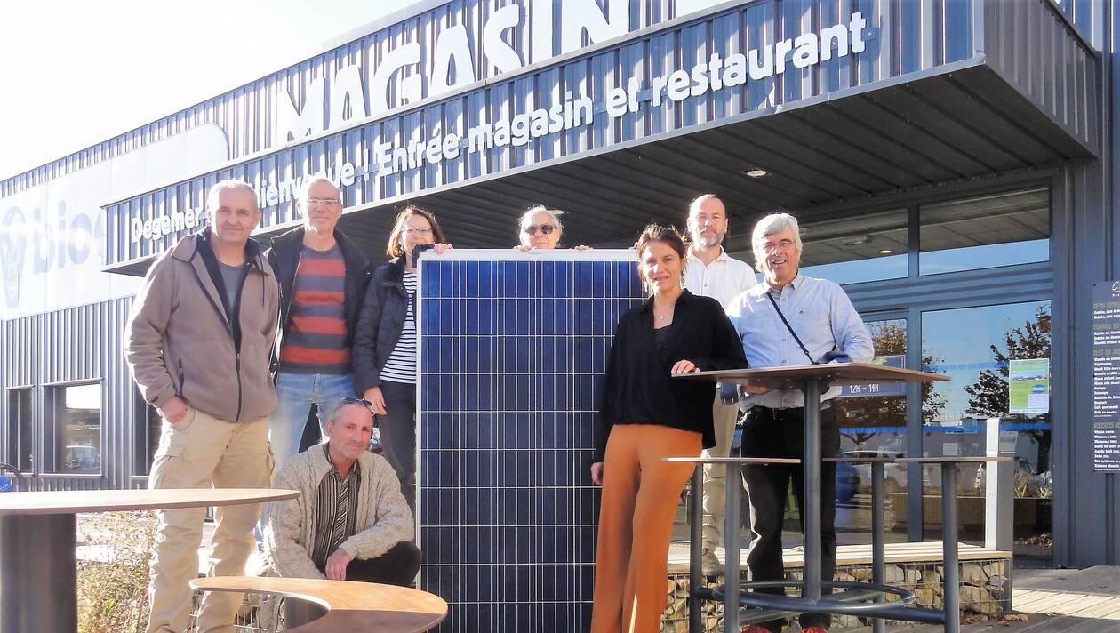 La Biocoop Keryado à Lorient inaugure son toit solaire pendant JuinCitoyen le 28 juin 2019