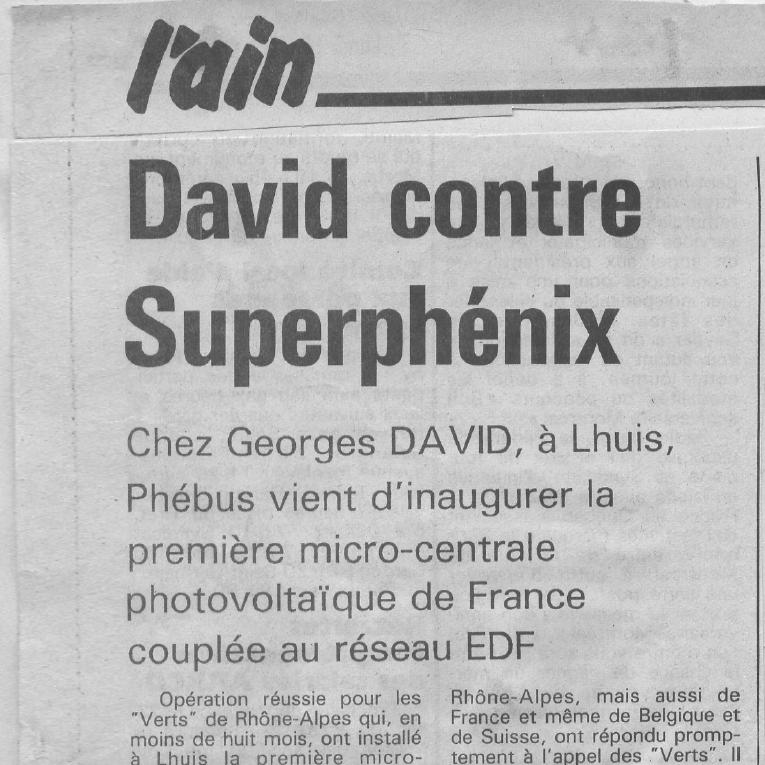 Coupures de presse au lendemain de l'inauguration de Phébus 1