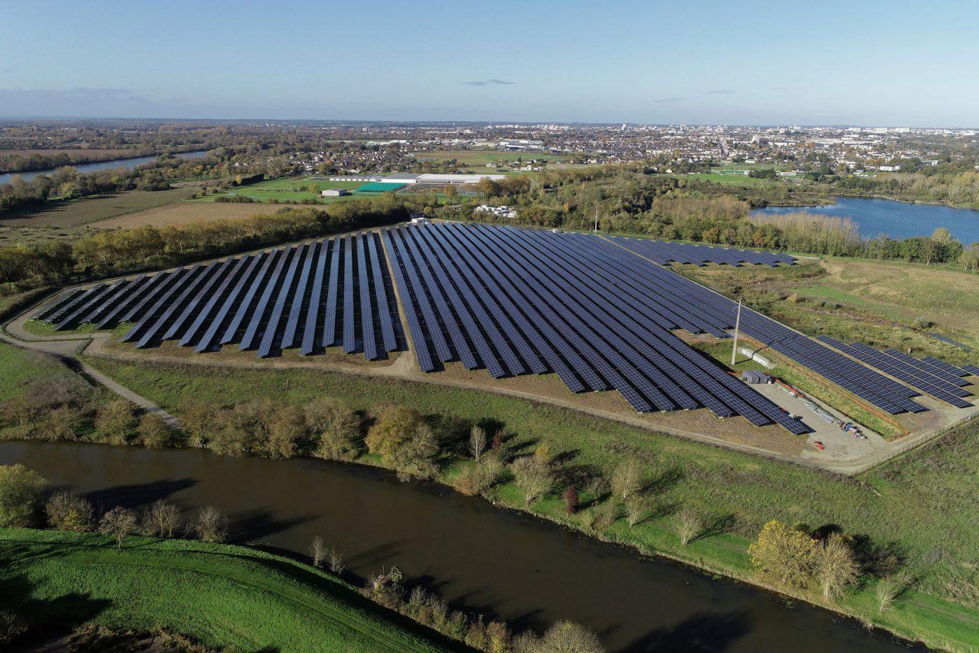 La centrale solaire de la Petite Vicomté, co-financée par Energie Partagée (Crédit photo : Christophe Guérin)