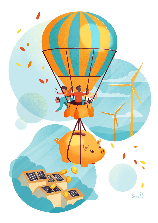 Souscrire des actions cadeau Energie Partagée, c'est offrir une épargne écologique et rentable