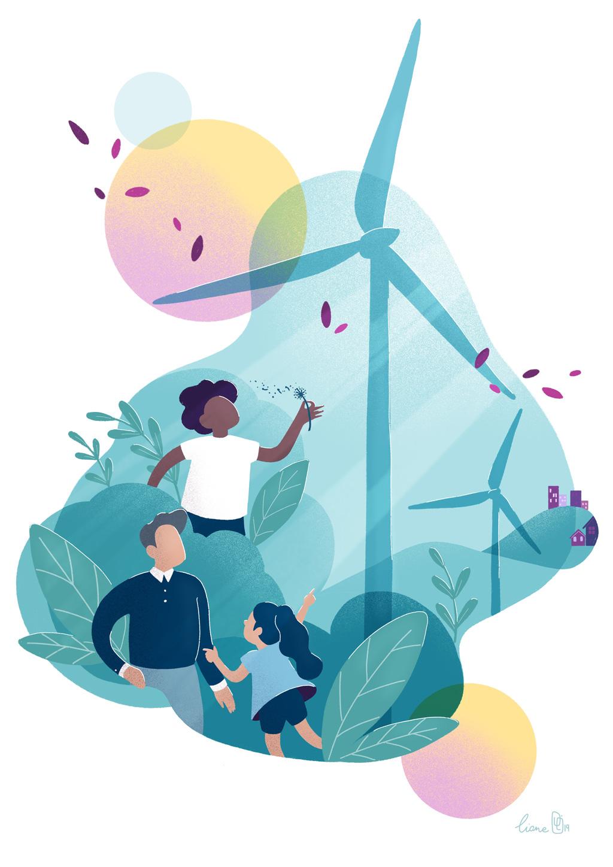 Avec Energie Partagée impliquez vos proches dans la transition énergétique citoyenne ! (© Énergie Partagée)