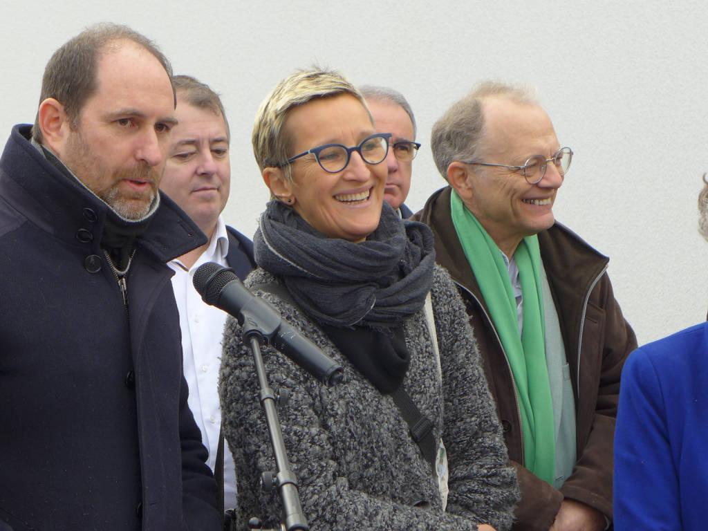 Julien Robillard et Fabienne Mahrez, président et vice-présidente de la coopérative Energ'Y Citoyennes, expliquent le financement citoyen du projet.