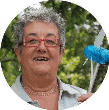 Claudette Lacombe, présidente du parc éolien citoyen Isac-Watts cofinancé par Energie Partagée