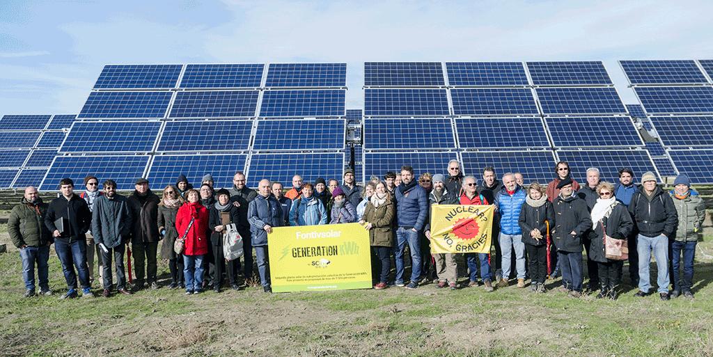 Parc solaire de Fontiveros (900 kWc), dans la province d'Ávila, financé grâce à l'épargne citoyenne.