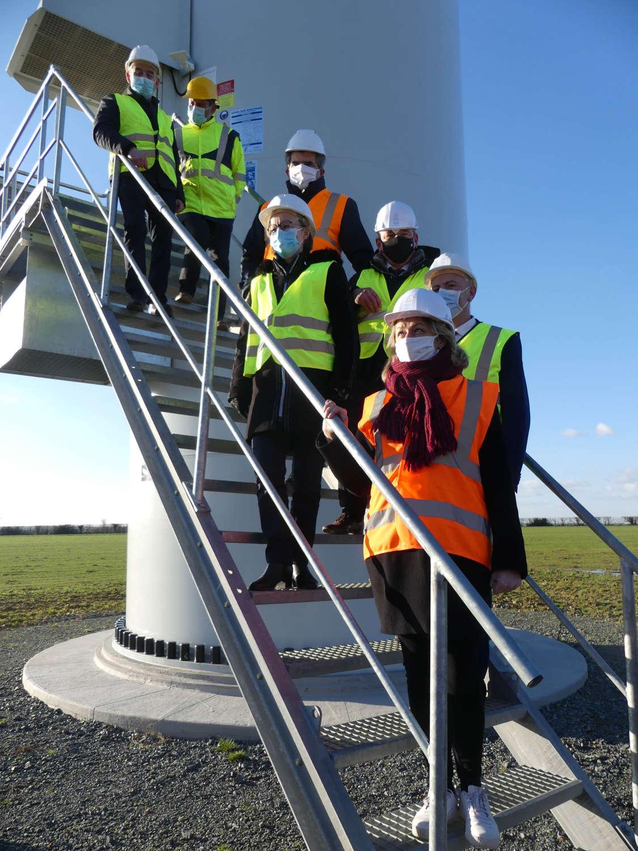 Barbara Pompili prend la parole pour saluer la réussite de ce premier parc éolien porté conjointement par citoyens et collectivités.